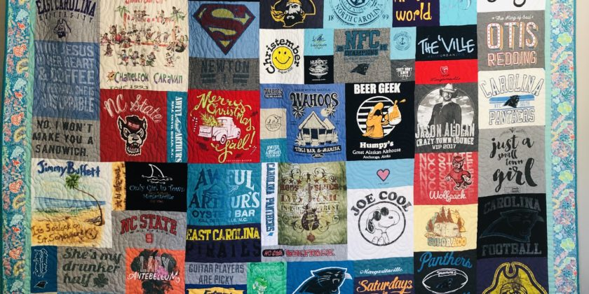 Six reasons to purchase your Mosaic style t-shirt quilt from us.
