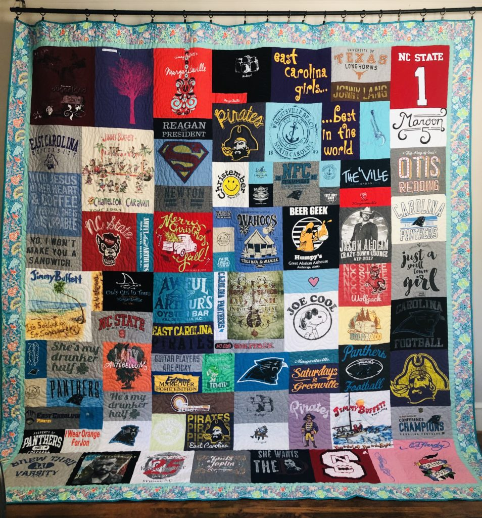 t shirt quilt, shirts to quilt, quilt made from shirts, tshirt blanket, quilt my shirts, how to make tshirt quilts, why choose us to make your t-shirt quilt