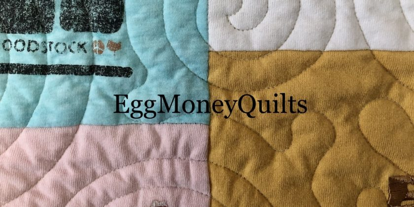 Quilting stitches on your t-shirt quilt