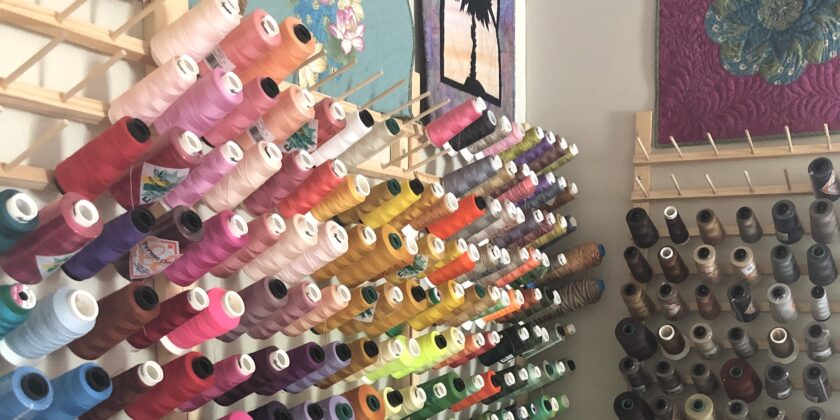 Thread choice has a BIG impact on your T shirt quilt.