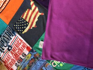 project repat, quilt from shirts, t shirt blanket