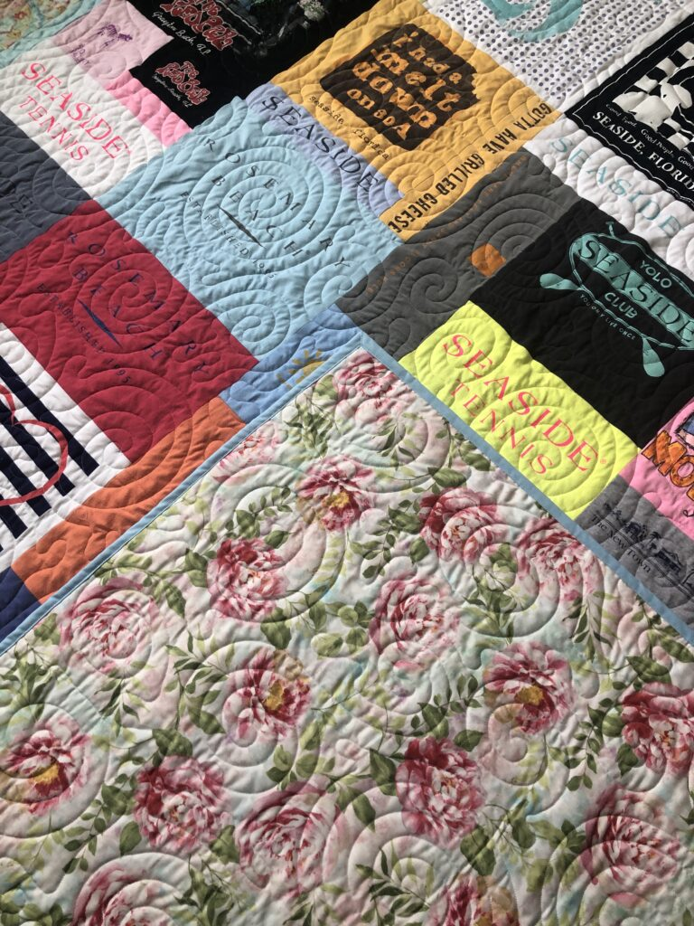 fabric for tshirt quilt, t-shirt quilts, eggmoneyquilts,toocooltshirtquilts